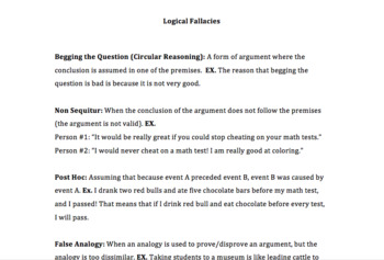 The Bad Argument: Logical Fallacies
