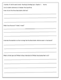 The Bad Beginning Short Answer Quiz for Each Chapter