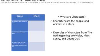 The Bad Beginning: Unit Plan (Novel Study)