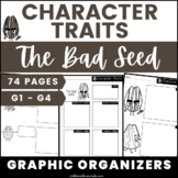 The Bad Seed Character Traits Graphic Organizers