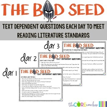 The Bad Seed: Interactive Read-aloud Lessons and Activities 3-4