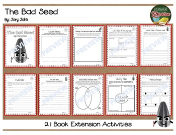 The Bad Seed by Jory John 21 Book Extension Activities NO PREP