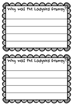 The Bad-Tempered Ladybird Writing - Why is the Ladybird angry?
