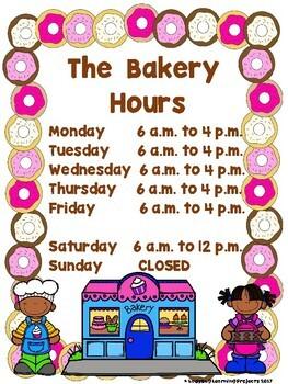 The Bakery Dramatic Play / Writing Center Bundle