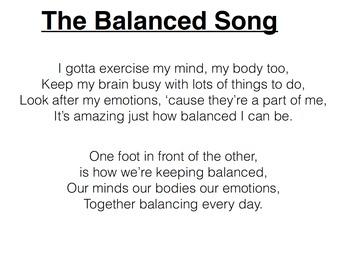 Balanced Song