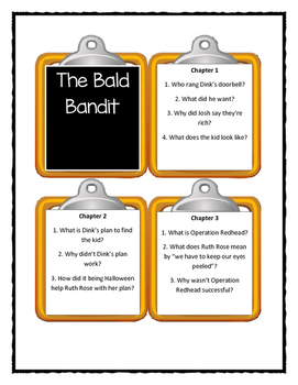 A to Z Mysteries THE BALD BANDIT -Discussion Cards