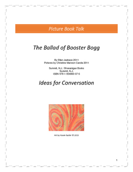 The Ballad of Booster Bogg: Ideas for Conversation