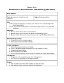 The Ballad of John Henry Lesson Plan, Supplements, and Answer Key