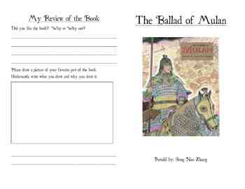 The Ballad of Mulan Activity Booklet