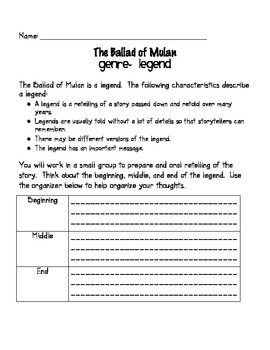 Worksheets Mulan Worksheet the ballad of mulan packet by ms third grade teachers pay aligned with common core curriculum