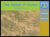 The Ballad of Mulan Vocabulary Show