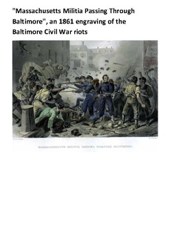 The Baltimore riot of 1861 Handout