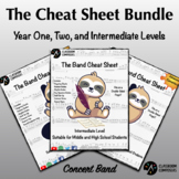 The Band Cheat Sheet Bundle! - Year One, Year Two, and Int
