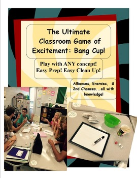 The Bang Cup Game - Perfect for all HS Classes