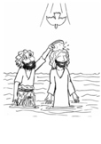 The Baptism of Jesus Coloring