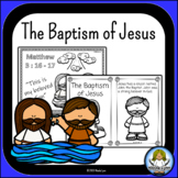 The Baptism of Jesus Mini Book, Coloring, worksheets, word wall
