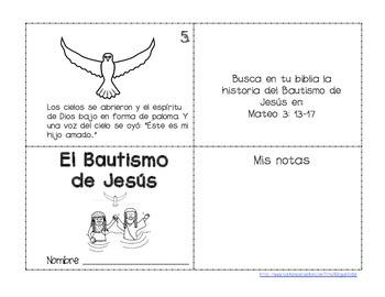 The Baptism of Jesus Spanish Mini Book - Librito del Bautismo de Jesus