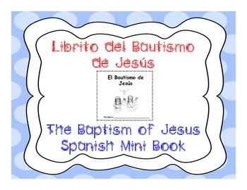 The Baptism of Jesus Spanish Mini Book - Librito del Bauti