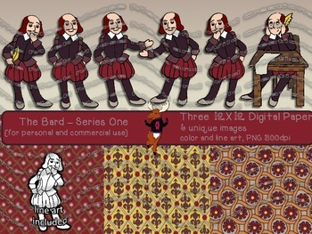 The Bard - Series 1 Shakespeare {for personal and commercial use}