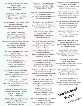 The Bards of Wales - Reading, questions & poem analysis.  Full Lesson Plan