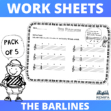 The Barlines Worksheets - 5 pack - Ages 4+