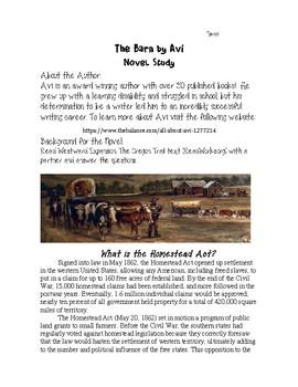 The Barn Novel Study