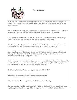 The Baroness - A persuasive argument activity - good intro to essays