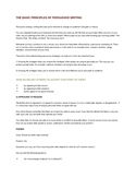 The Basic Principles of Persuasive Writing Handout