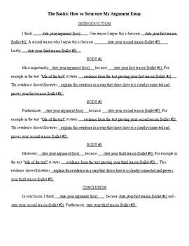 argument essay template