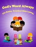 The Basics Preschool Bible Lesson:  Creation