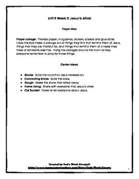 The Basics Preschool Bible Lessons:  Unit 9