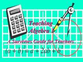 The Basics of Algebra 1: A Survival Guide for Teachers