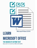 The Basics of Editing Text - MS Word 2016