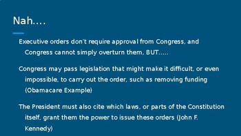 The Basics of Executive Orders