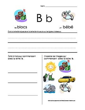 The Basics of French: B worksheet