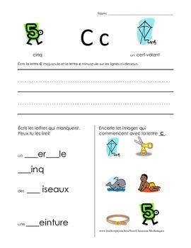 The Basics of French: C worksheet