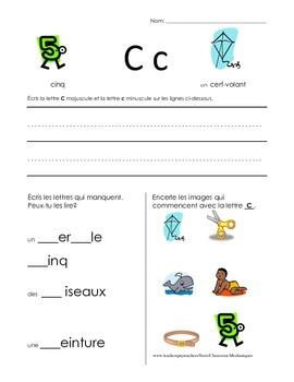The Basics of French: C worksheet