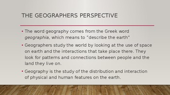 The Basics of Geography PowerPoint