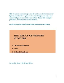 The Basics of Numbers in Spanish