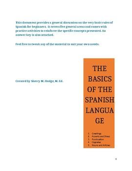 The Basics of the Spanish Language