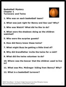 The Basketball Mystery (Boxcar Children #68) Book Unit