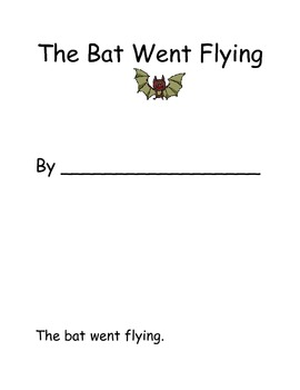 The Bat Flew- Interactive Halloween book with POSITIONAL Math words