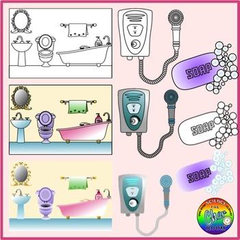 Bathroom Clipart (My Home Series I)