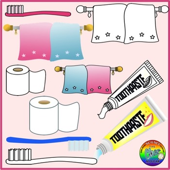 Bathroom Clipart (My Home Series I)