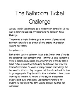 The Bathroom Ticket Challenge