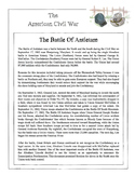 Civil War - The Battle Of Antietam Content Sheet, Workshee