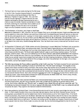 The Battle of Antietam - Grade 8