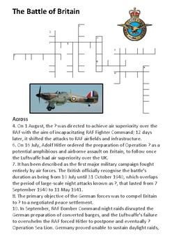 The Battle of Britain Crossword