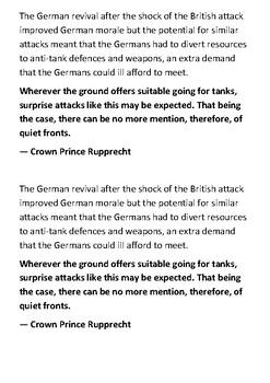 The Battle of Cambrai Handout