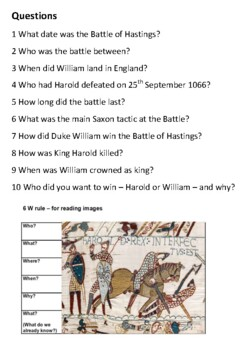 The Battle of Hastings Handout